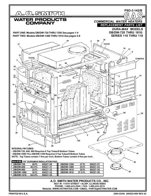 psd3142b pdf ao smith water heaters