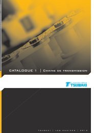 CATALOGUE 1 | Chaine de transmission - Tsubaki Europe