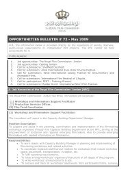 OPPORTUNITIES BULLETIN # 72 - May 2009 - The Royal Film ...