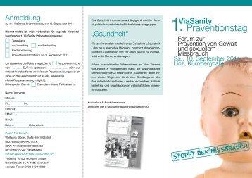 Flyer und Anmeldung - Blog von VICIENTE.AT