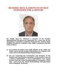dr mohd. reza k.ashtiyani of iran suspended for 12 months - ABBF