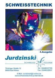 Katalog - Schweisstechnik Jurdzinski GmbH