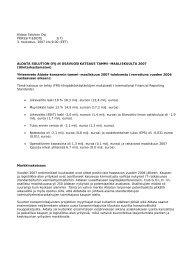 Aldata Solution Oyj PÖRSSITIEDOTE 1(7) 3. toukokuu, 2007 klo ...