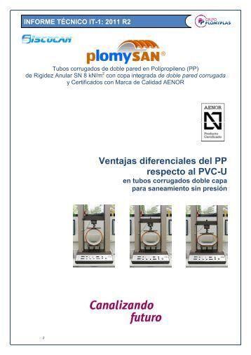 Tubos de PP vs PVC-U - Plomyplas