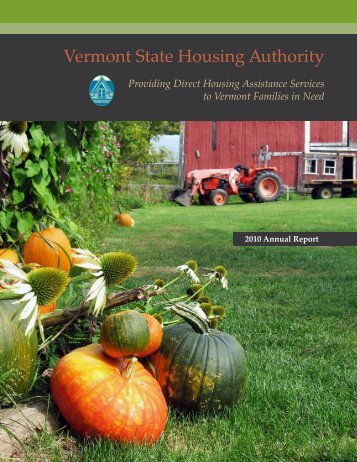 Vermont State Housing Authority 2010 Annual Report (24 V.S.A. ...
