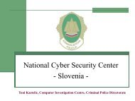 National Cyber Security Center Development - eLivingLab
