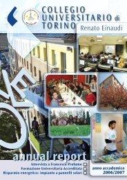 Annual Report - Anno Accademico 2006/07 - Collegio Einaudi
