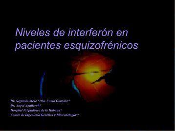 Niveles de Interferón en pacientes esquizofrénicos