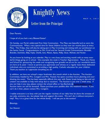 Knightly News - St. Joseph Catholic Faith Community