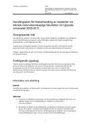 Handlingsplan för likabehandling av studenter 2009-2011 - Teknisk ...