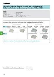 """Technische Daten der Gehäuse """"Größe 4"""" und ... - MTO electric A/S"""