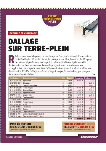 Le dallage d une constr for Dallage sur terre plein