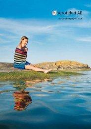 Sustainability report 2008 - Apoteket