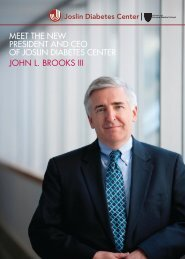 meet the new president and ceo of joslin diabetes center john l ...