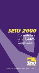 SEIU Constitution and Bylaws - Michigan Corrections Organization