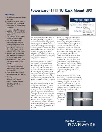 Powerware® 5115 1U Rack Mount UPS - Nolan Power Group