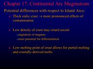 Chapter 17: Continental Arcs - Faculty web pages