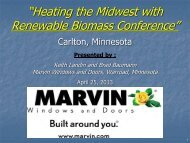 Marvin Windows-Biomass Presentation - Heating the Midwest