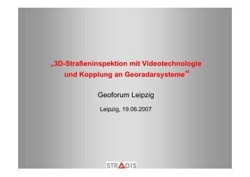 """""""3D-Straßeninspektion mit Videotechnologie und ... - GEO LEIPZIG eV"""