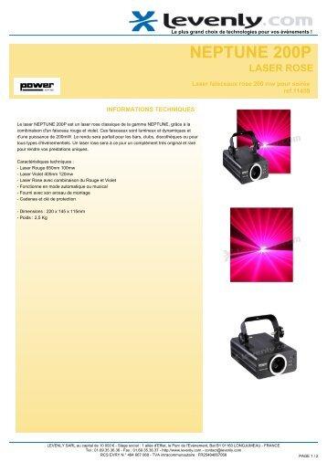 Fiche produit POWER LIGHTING - NEPTUNE 200P ... - Levenly