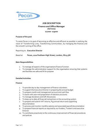 Job description pa to chief executive office manager - Executive office administrator job description ...