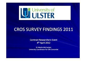 CROS SURVEY FINDINGS 2011 - Research