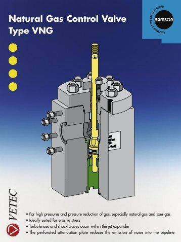 Natural Gas Control Valve Type VNG - Samson Regeltechniek