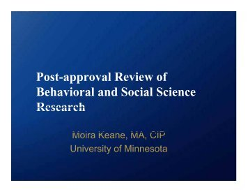 Post-Approval Review - Research and Graduate Studies