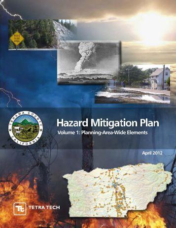 Multi-Hazard Mitigation Plan Volume 1 - Tehama County Public ...