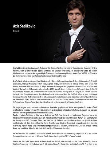 Azis Sadikovic - ISO - Innviertler Symphonie Orchester