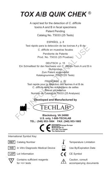 TOX AB QUIK CHEK multilingual 2-2009 pg1.pmd - TechLab