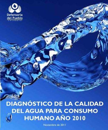 diagnóstico de la calidad del agua para consumo humano año 2010