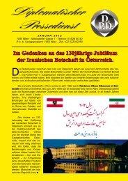 Im Gedenken an das 130jährige Jubiläum der Iranischen Botschaft ...