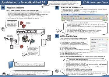 Snabbstart - översiktsblad SE - Talk telecom
