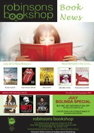 Book News - Robinsons Bookshop