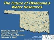 The Future of Oklahoma's Water Resources Oklahoma's Major ...