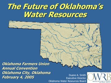 The Future of Oklahoma's Water Resources Oklahoma's Major ...