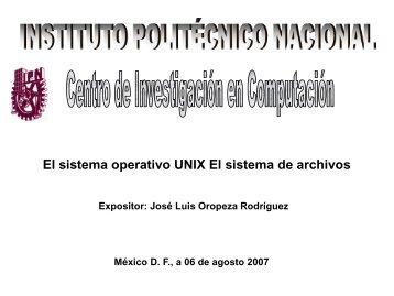 EL SISTEMA DE ARCHIVOS DE UNIX.pdf - José Luis Oropeza