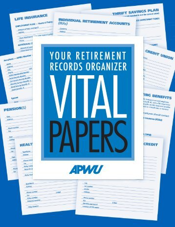 Vital Papers - Your Retirement Records Organizer - APWU