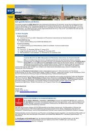 WSP aktuell, Ausgabe November 2009 - Wirtschaft und ...
