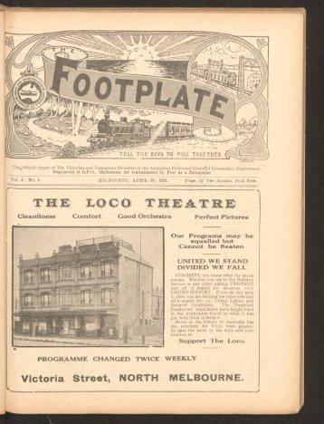 The Footplate: vol. 4, no. 4 (April, 1921)