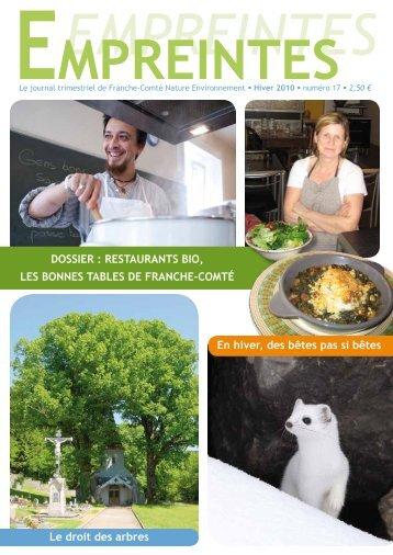 Empreintes (hiver 2010) - La maison de l'environnement de Franche ...