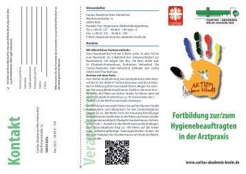 Veranstalter Kontakt - Caritas-Akademie Köln