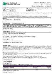 TRIGAL INVERSIONES SICAV SA 1. Política de ... - BNP Paribas