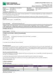 Último Informe periódico - BNP Paribas Wealth Management España