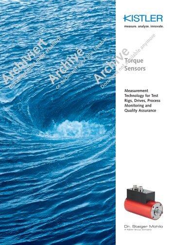 Brochure archive, Torque Sensors, Measurement ... - techno volt