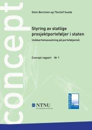 Styring av statlige prosjektporteføljer i staten - Concept - NTNU