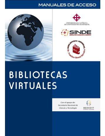 Descargar el Manual de Uso para las Bibliotecas Virtuales