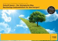 Zukunft bauen – Der ökologische Weg. Nachhaltige Gebäudehüllen für ...