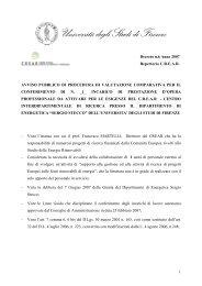 1 Decreto n.6 Anno 2007 Repertorio C.R.E.A.R. ... - CREAR - UniFi
